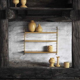 Pocket Shelf - Mustard  Yellow String Furniture