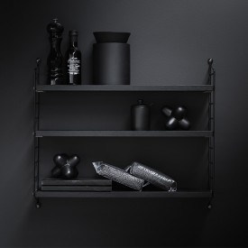 Pocket Shelf - Black  Black String Furniture