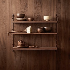 Pocket Shelf - Oiled Teak Brown String Furniture
