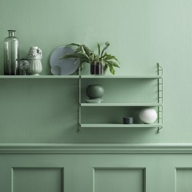 Pocket Shelf - Green  Green String Furniture