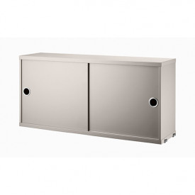 Cabinet w/ Sliding Doors 78 x 20 cm - Beige Beige String Furniture