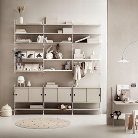 Cabinet w/ Sliding Doors 78 x 30 cm - Beige Beige String Furniture