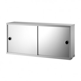 Cabinet w/ Mirror Doors 78 x 20 cm - Gris Grey String Furniture
