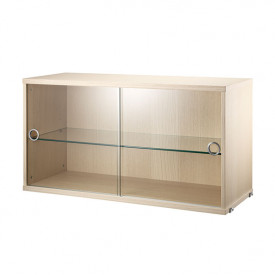 Cabinet w/ Glass Doors 78 x 30 cm - Ash Nature String Furniture