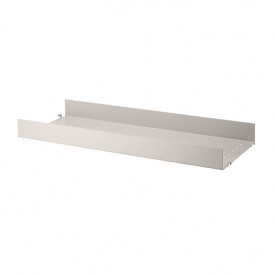 Metal Shelf 78 x 30 cm - Large Edge - White Beige String Furniture
