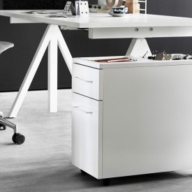Cabinet on Casters - White White String Furniture