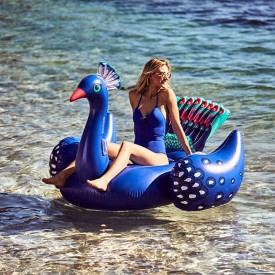 Giant Float Peacock Blue Sunnylife