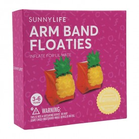 Inflatable Arm band Pineapple Orange Sunnylife