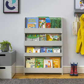 Bookcase - Pale Grey Grey Tidy Books