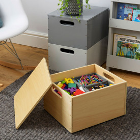 Kids Toy Storage Box - Natural Nature Tidy Books