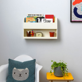 Bunk Bed Wall Shelf - Ivory Beige Tidy Books