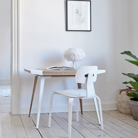 Ambitions Desk - Oak / White Nature Umage