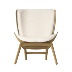 The Reader Wing Chair - Oak / Teddy Bear Nature Umage