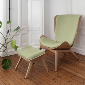The Reader Wing Chair - Oak / Spring Green Nature Umage