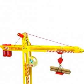 Construction Site Crane Yellow Vilac