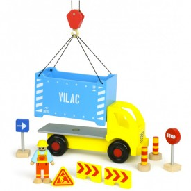 Container Truck and Accessories Set Red Vilac