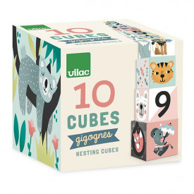 Stacking Cubes Animals Michelle Carlslund Multicolour Vilac