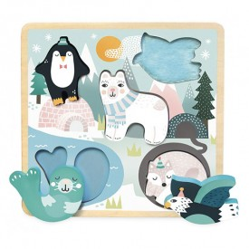 Puzzle Ice Animals Michelle Carlslund Multicolour Vilac