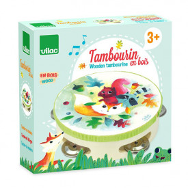 Woodland Wood Tambourine Multicolour Vilac