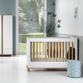Crib 70 x 140 cm Altitude - White / Oak White Vox