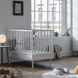 Crib 70 x 140 cm Cute - White White Vox