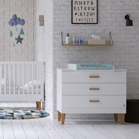 3 Drawers Dresser Lounge - White White Vox