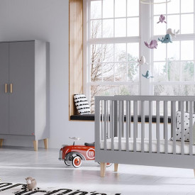 Crib 70 x 140 cm Lounge - Light Grey Grey Vox
