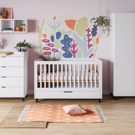 Crib 70 x 140 cm Simple - White White Vox