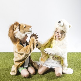 Animal Costume Lion Brown Wild and Soft