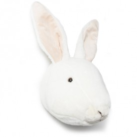 Trophy Head White Rabbit Alice White Wild and Soft