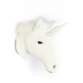 Trophy Head Unicorn Claire White Wild and Soft