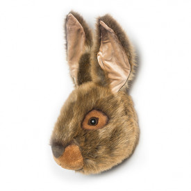 Trophy Head Hare Lewis Grey Wild and Soft