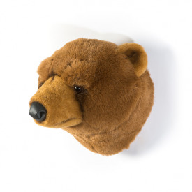 Trophy Head Brown Bear Oliver Brown Wild and Soft
