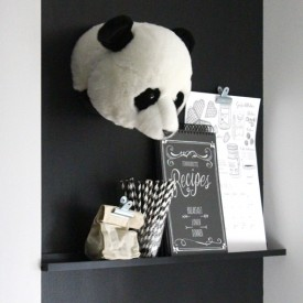 Trophy Head Panda Thomas Black Wild and Soft