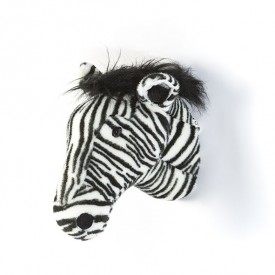 Trophy Head Zebra Daniel Black Wild and Soft