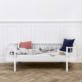 Wood Day Bed 90 x 200 cm - White White Oliver Furniture