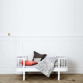 Wood Convertible Junior Bed - White White Oliver Furniture