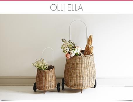 Olli Ella - Korb, Luggy und Kinderspielzeug