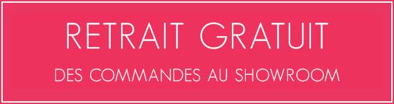 Retrait gratuit des commandes au Showroom de Genève