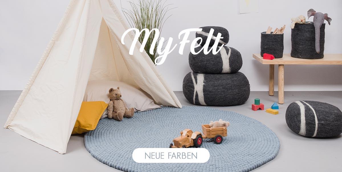 MyFelt - Filzkugelteppiche, Teppiche für kinder