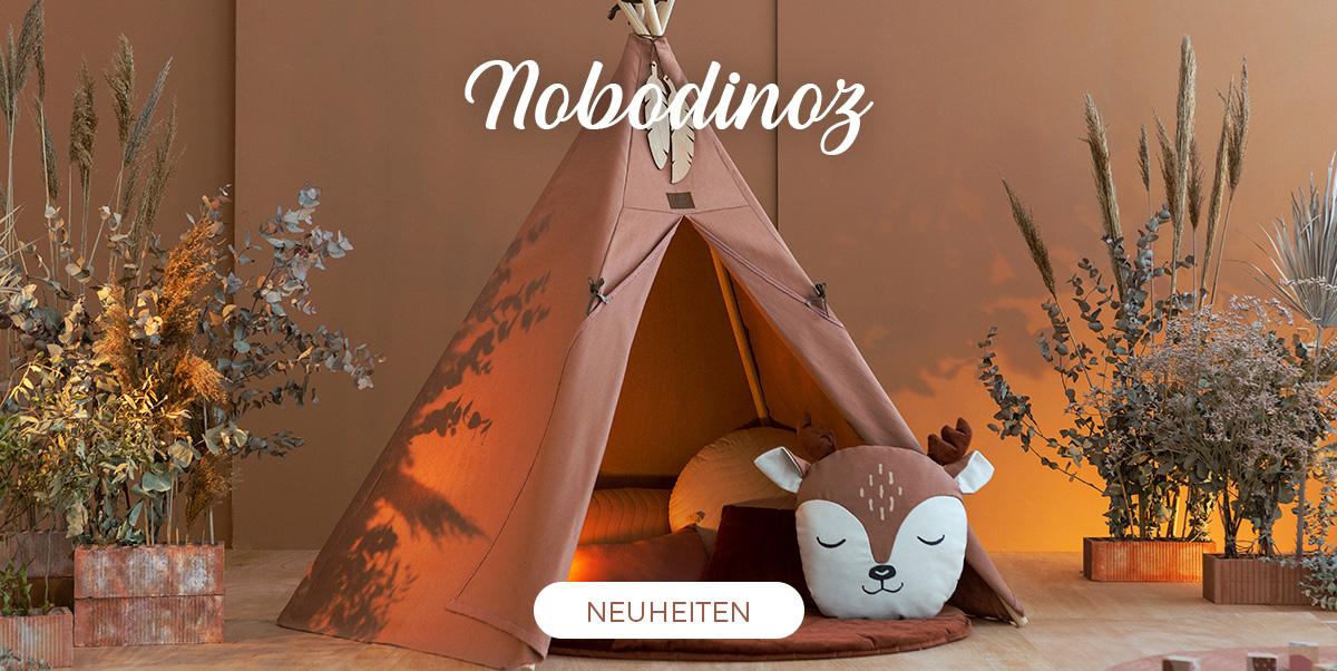 Nobodinoz - Neuen Farben. Kissen für Kinder
