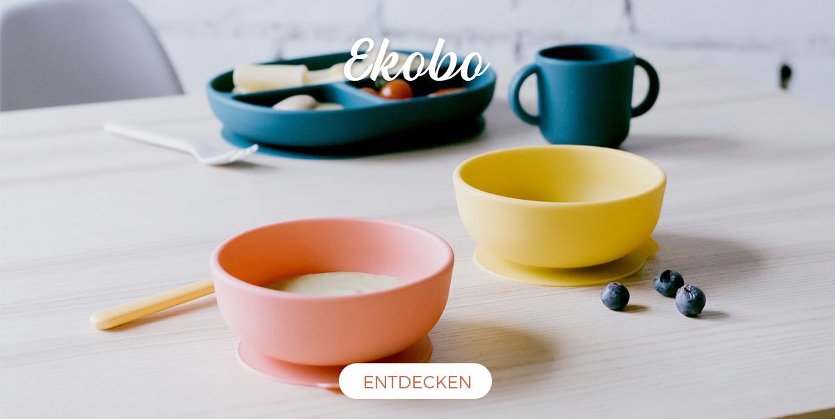 Ekobo - Geschirr-set aus Silikon für Kinder