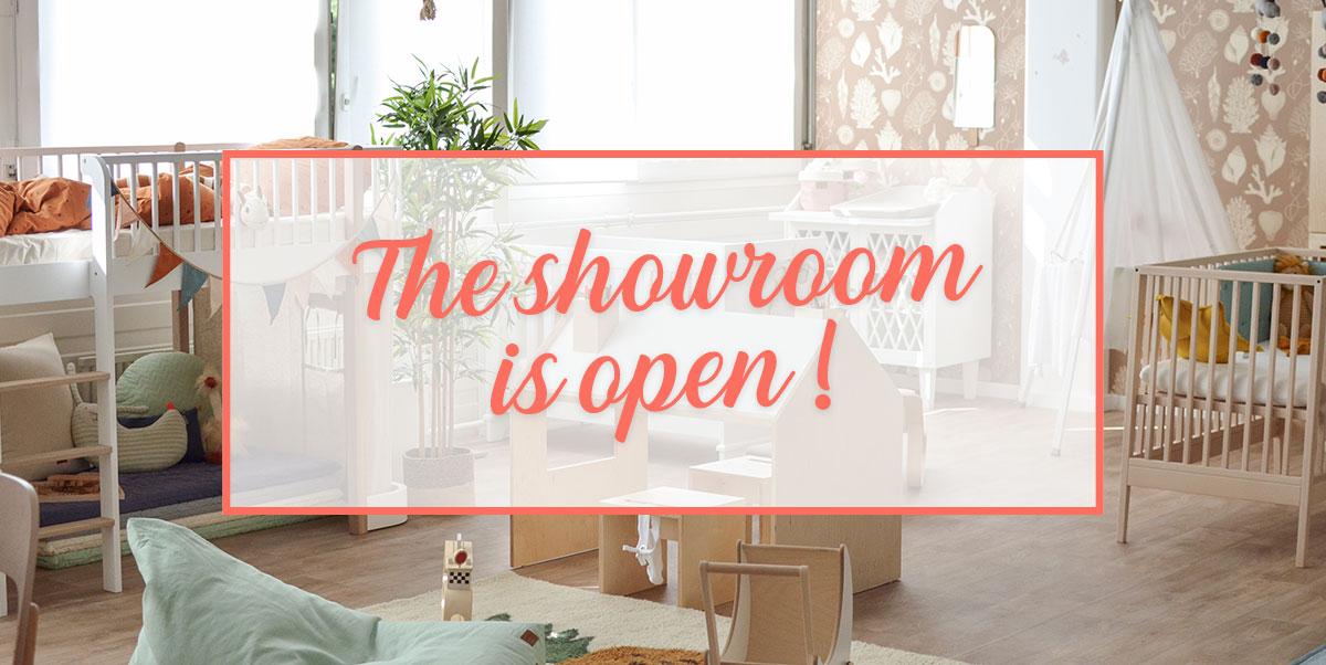 The showroom is open