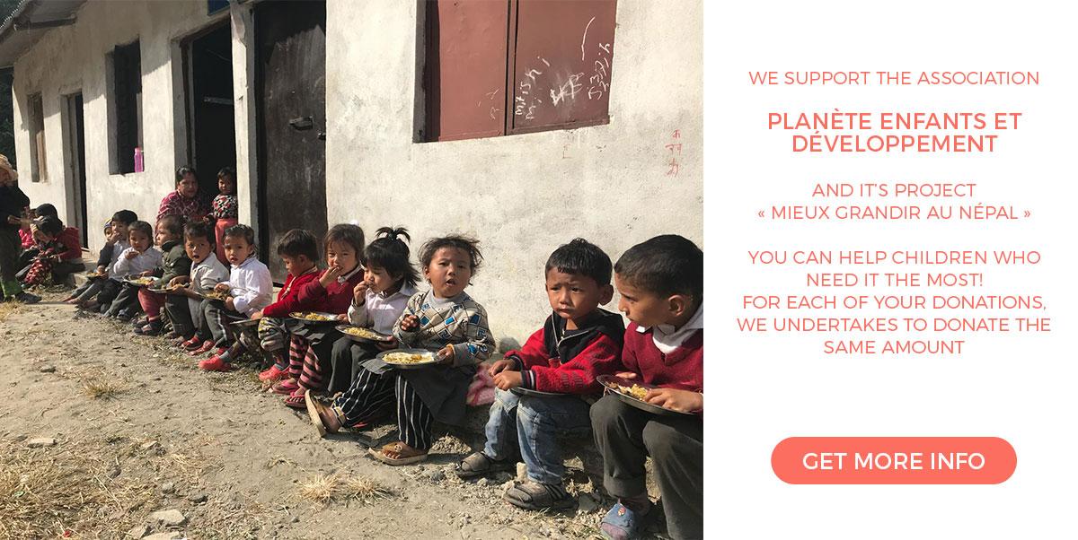 We support the association Planète Enfants et Développement