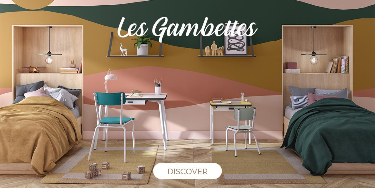 Les Gambettes - Vintage furniture for kids, 50's design