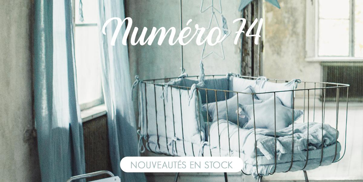 Numéro 74 - Linge de lit et textile en coton bio pour bébé et enfant
