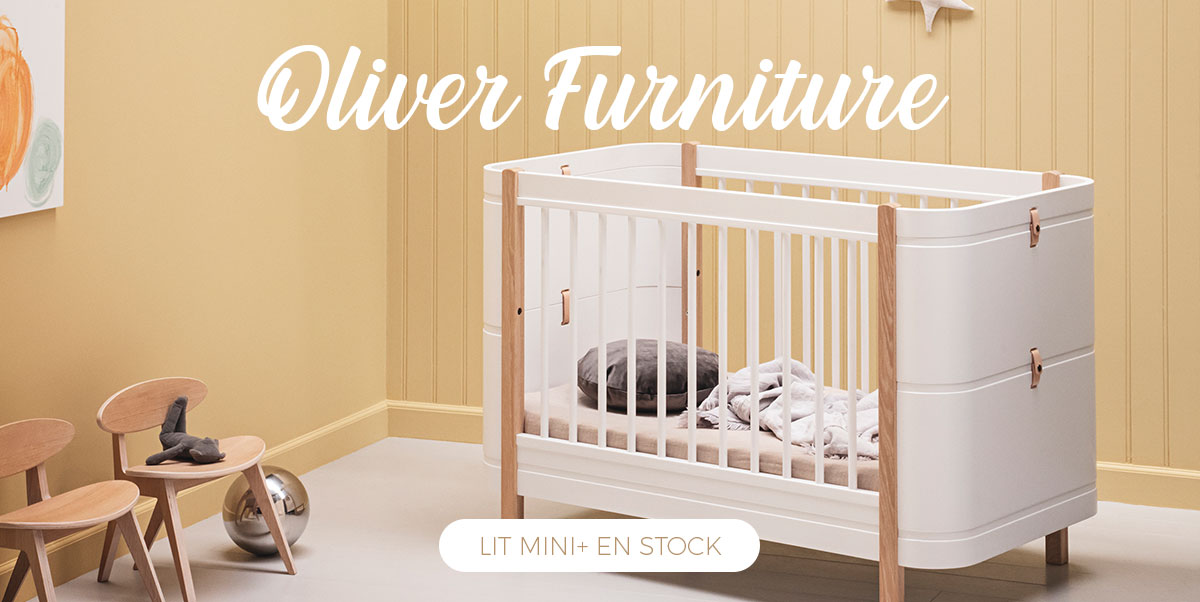 Oliver Furniture - Lit bébé Mini+ en stock