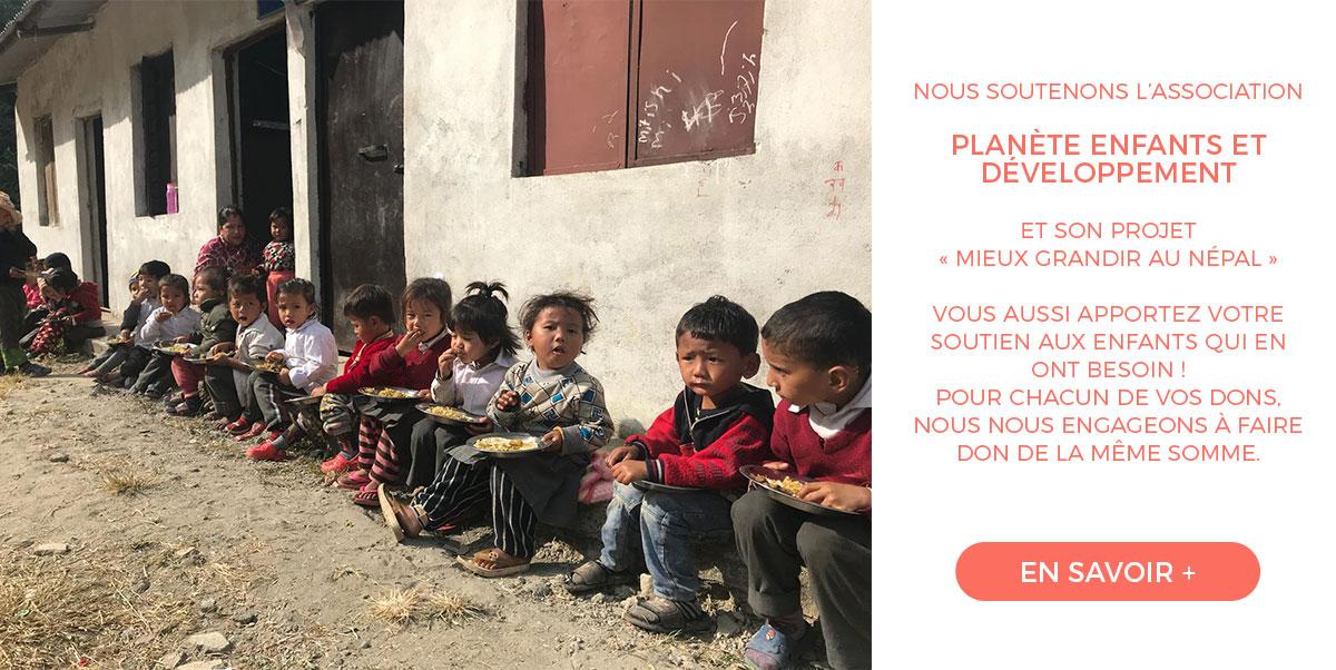 Soutien à l'association Planète Enfants et Développement