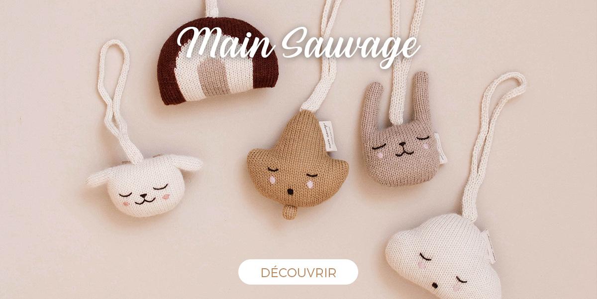 Main Sauvage - Doudous et jouets bébé en laine alpaga