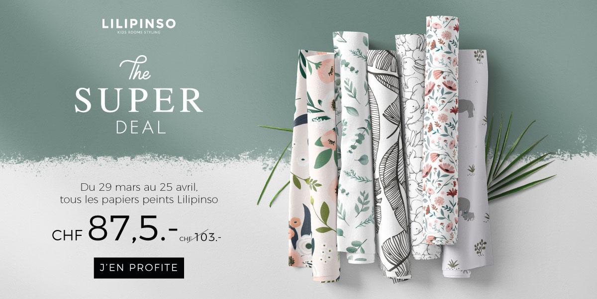 Lilipinso - Promo sur le papier peint